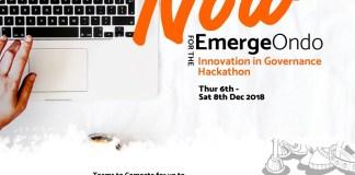 Apply to participate in EmergeOndo Hackathon!