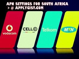 APN Settings For MTN, Cell C, Vodafone, Telkom