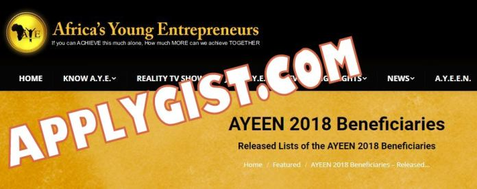 AYEEN 2018 Beneficiaries