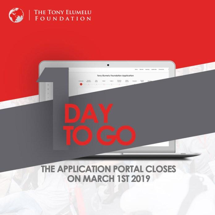 TEF Entrepreneurship Programme 2019 1 DAY TO GO