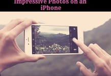 Photos on an iPhone