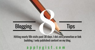 Blogging tips How to get 10k visits past 30 days