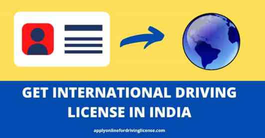 get international driving license in India