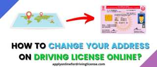 how to change your address on driving license online
