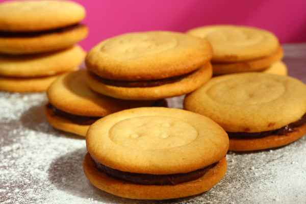 Malted Milk Chocolate Sandwich Biscuits.