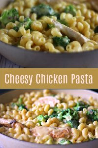 pin me cheesy Chicken and Pasta