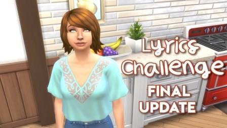 "Sims 4 ""Lyrics"" Challenge"