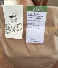 Din Bag with Warning