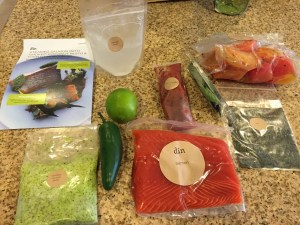 din salmon ingredients