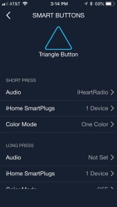 iHome AVS smart button customization
