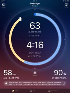 Sleeptracker sleep score