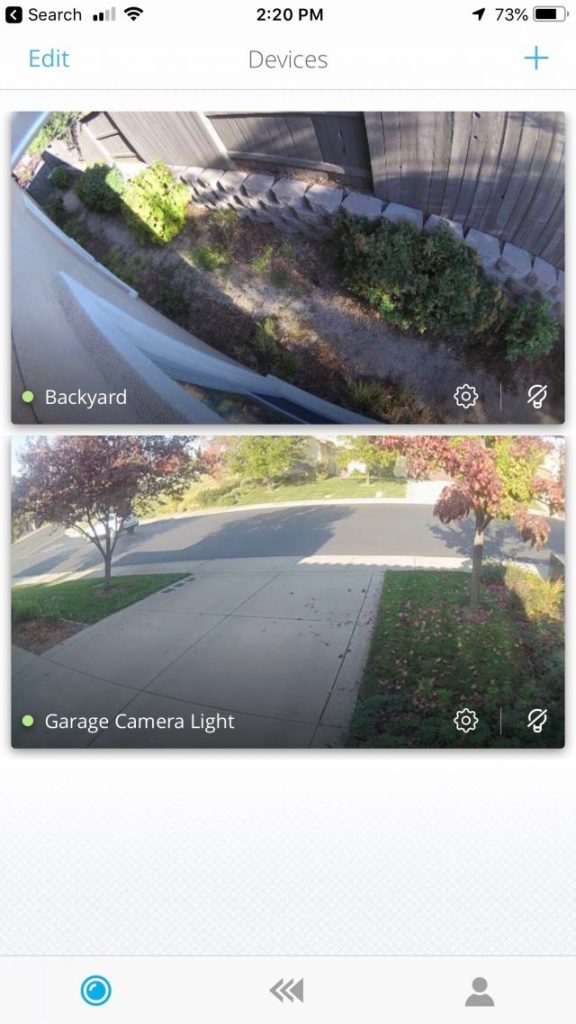 Kuna app multiple camera view