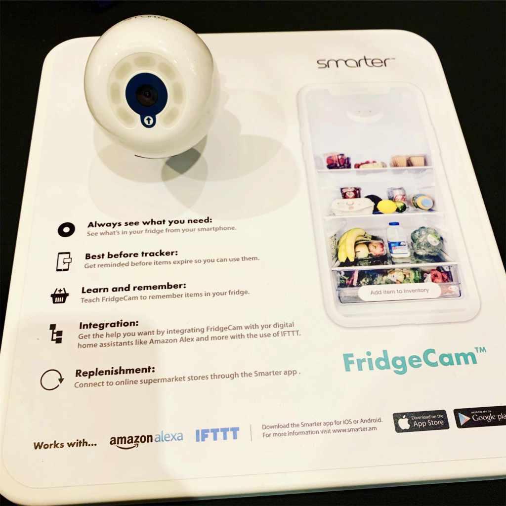 FridgeCam CES smart home gadget