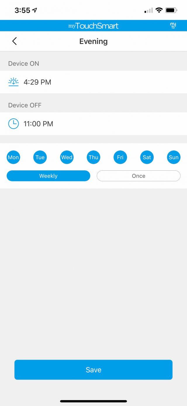 myTouchSmart App Evening Program