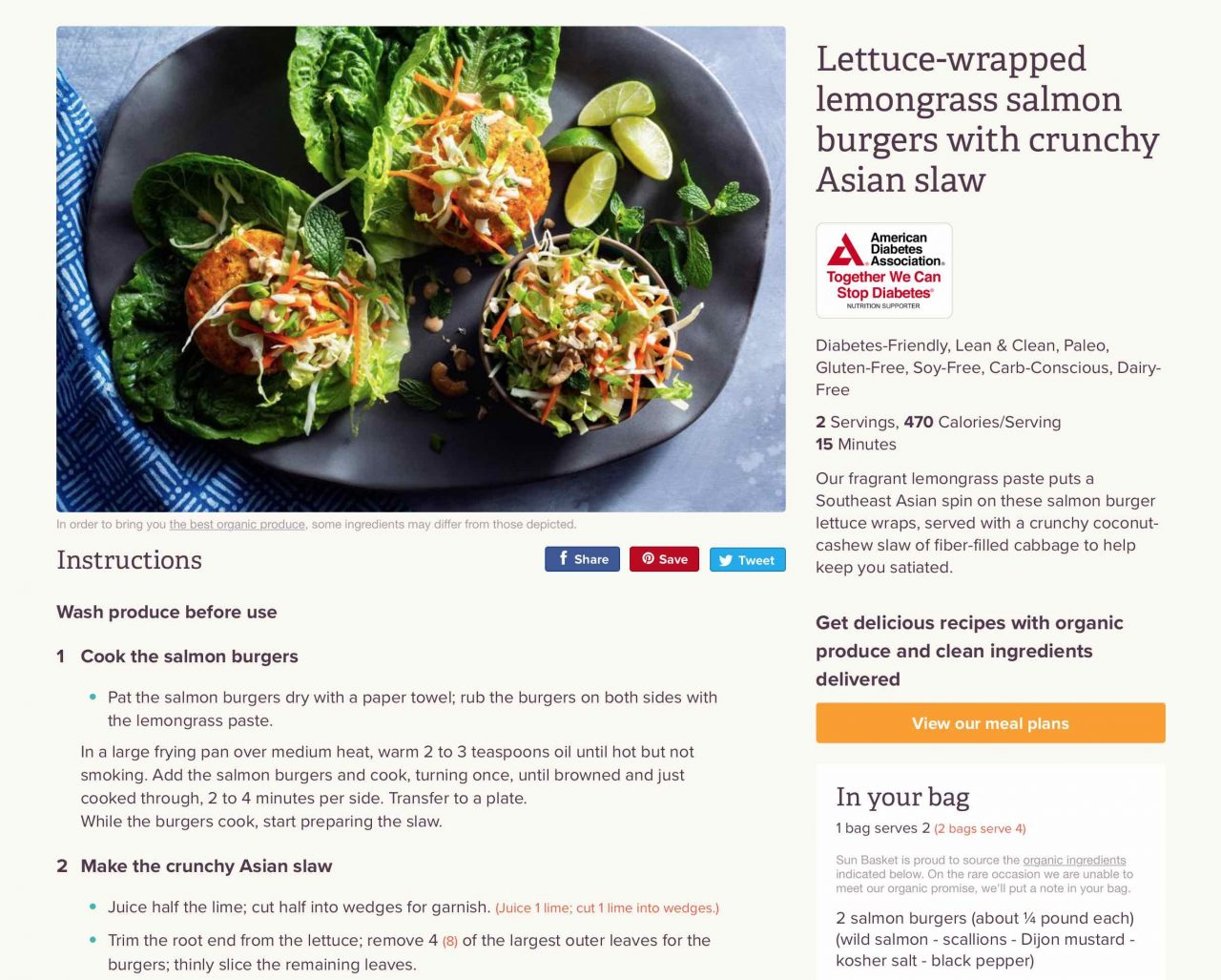 lettuce-wrapped salmon burger recipe