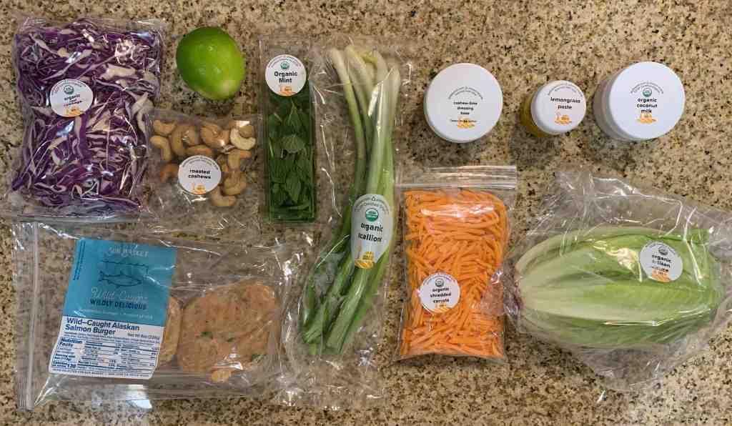sun basket salmon burger ingredients