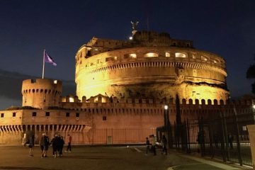 Castel Sant'Angelo at night in Rome