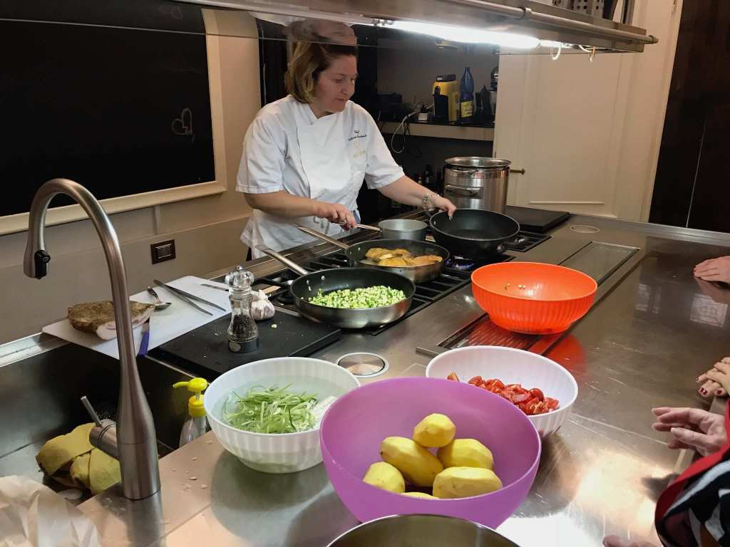 Chef Victoria Cooking at Fabioulous Cooking