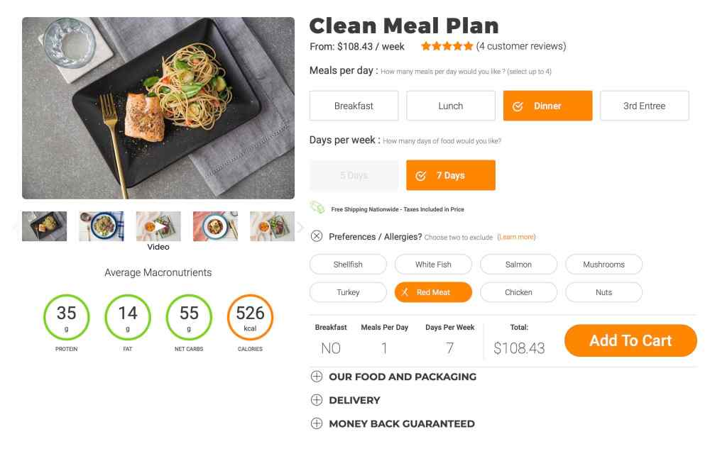trifecta clean plan with preferences