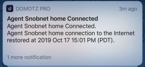 Domotz Pro Connected Notification