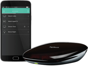 Logitech Harmony Hub with phone