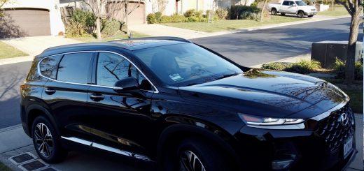 Hyundai Santa Fe in Driveway