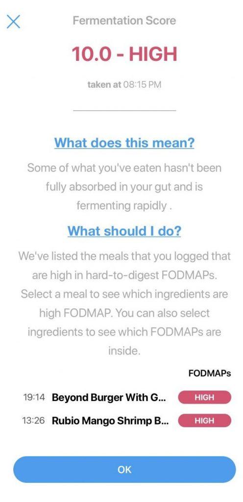 FoodMarble High Fermentation Score