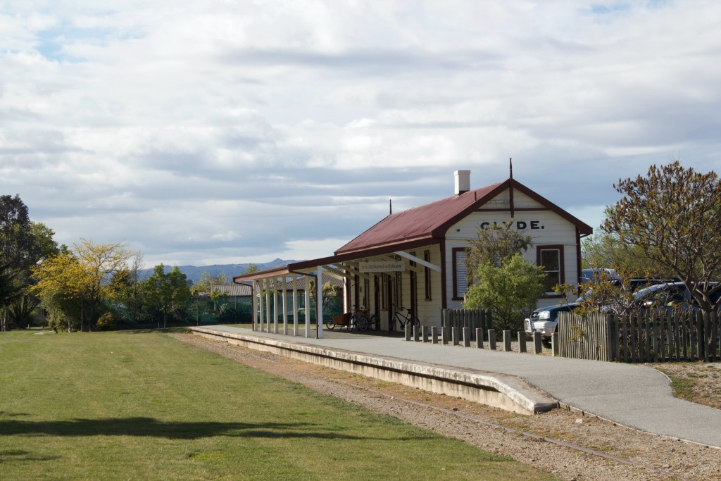 Clyde Depot start of Otago Central Rail Trail