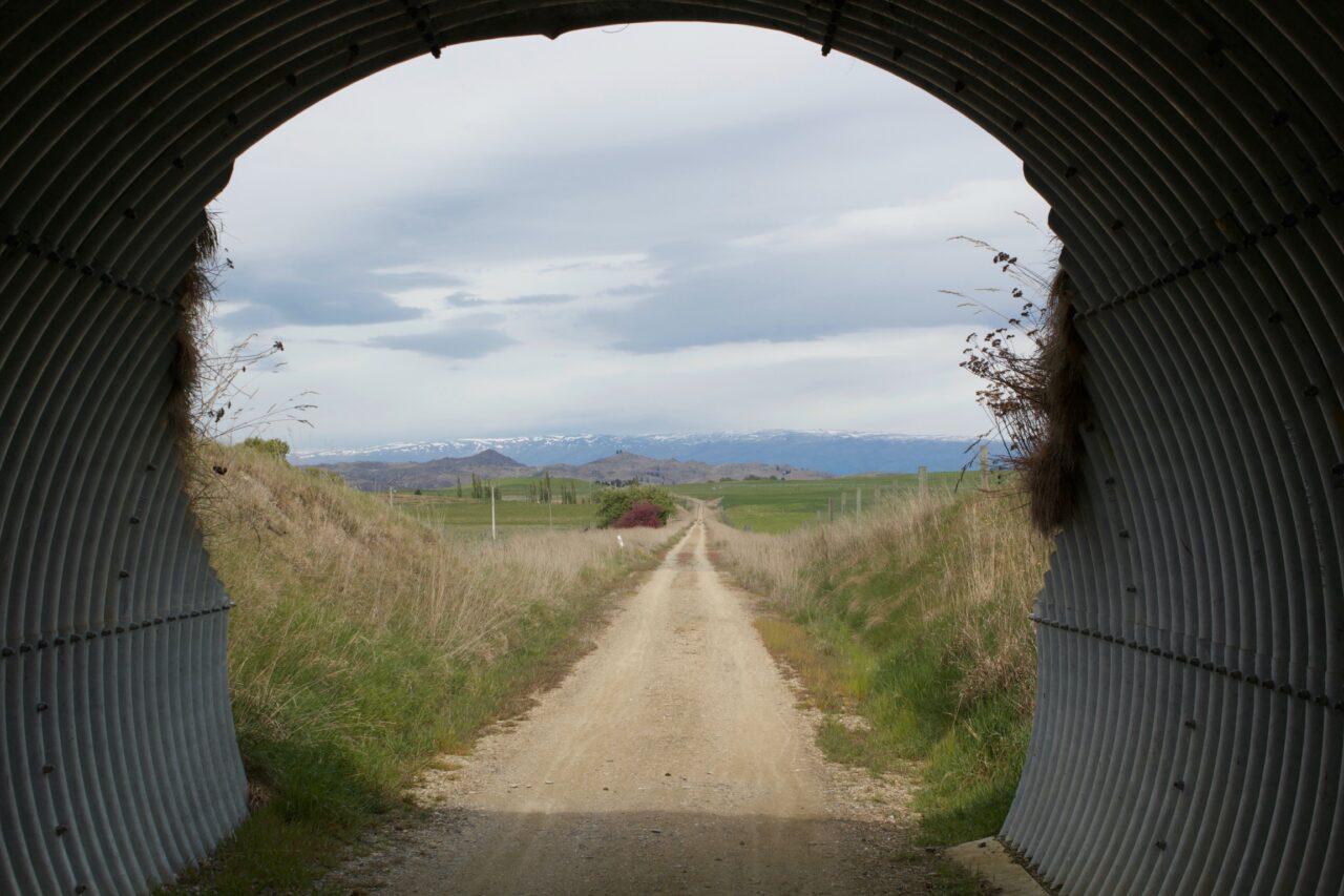 Otago Central Rail Trail through Tunnel