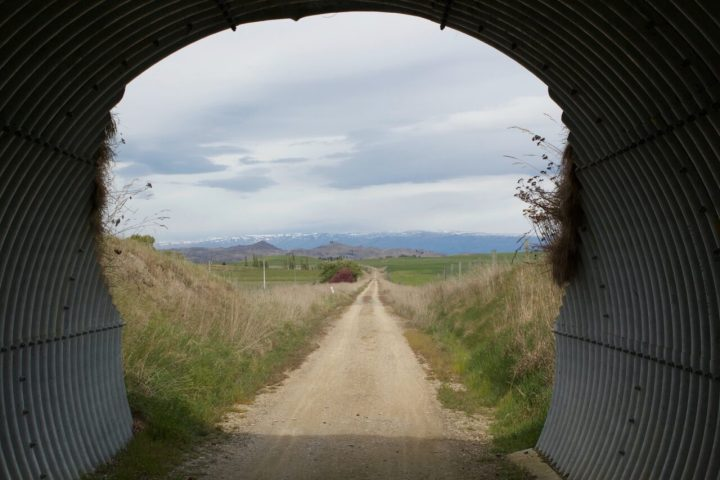 Otago Central Rail Trail through Tunnel