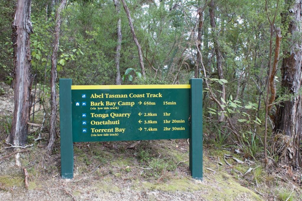 Abel Tasman Coast Track Sign