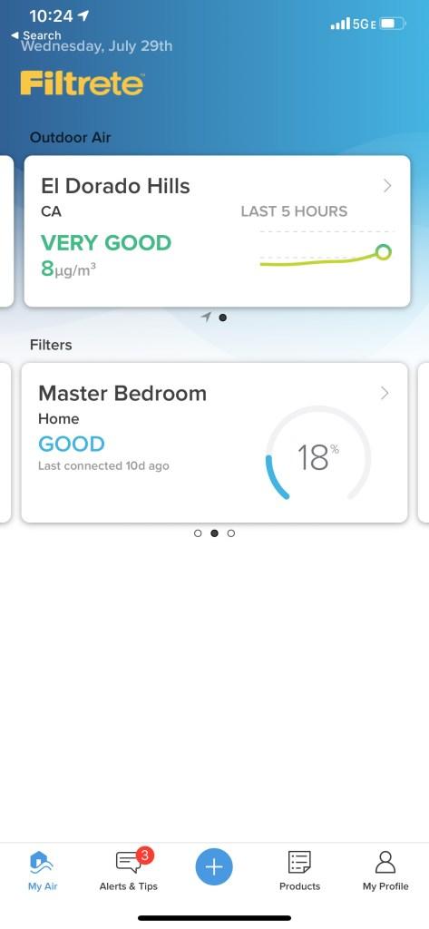 Filtrete Smart Air Filter Master Bedroom