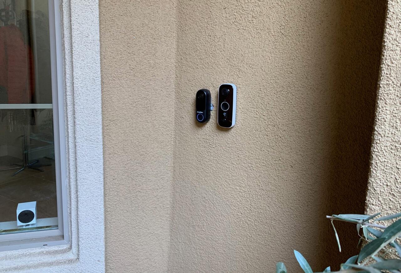 two video doorbells
