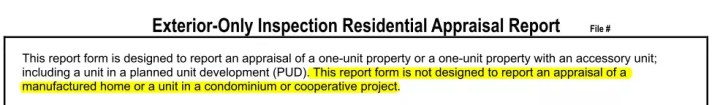 FNMA 2055 Exterior-Only Inspection Residential Appraisal Report