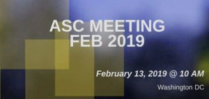 ASC meeting Feb 2019