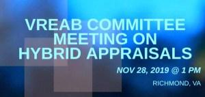 VREAB Committee Meeting on Hybrid Appraisals