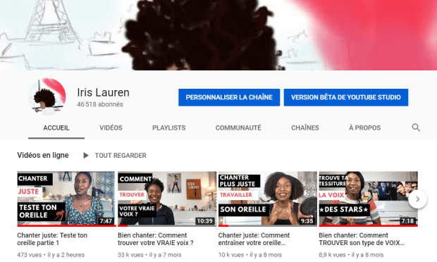 Youtube Iris Lauren