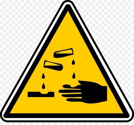 Pictogramme indiquant le caractère corrosif de la soude caustique