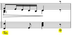 2017 01 25 Indication ancienne de pédale au piano