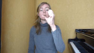 Exercice d'échauffement piano