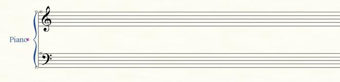 Système de portées de piano