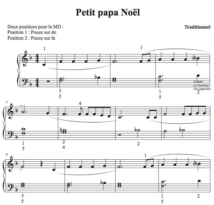 Petit Piano Noël Quand Tu Descendras Du Ciel Apprendre à Jouer