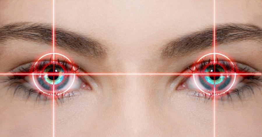 yeux fixes
