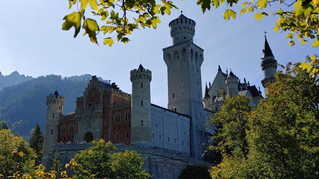 Porte d'entrée du château de Neuschwanstein (Bavière, Allemagne)