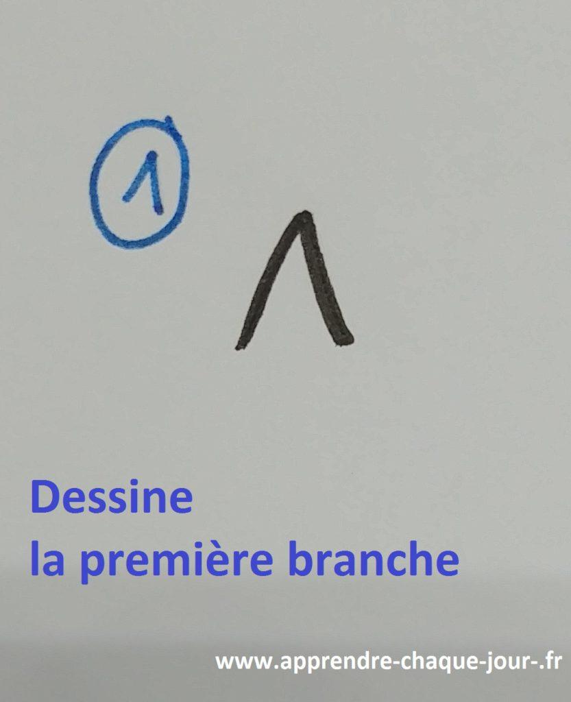 dessin facile étoile 5 branches