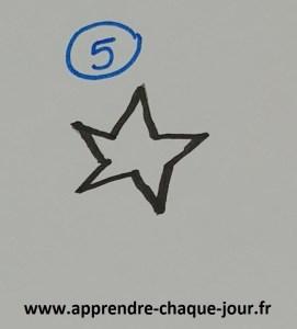 dessin étoile pour enfant