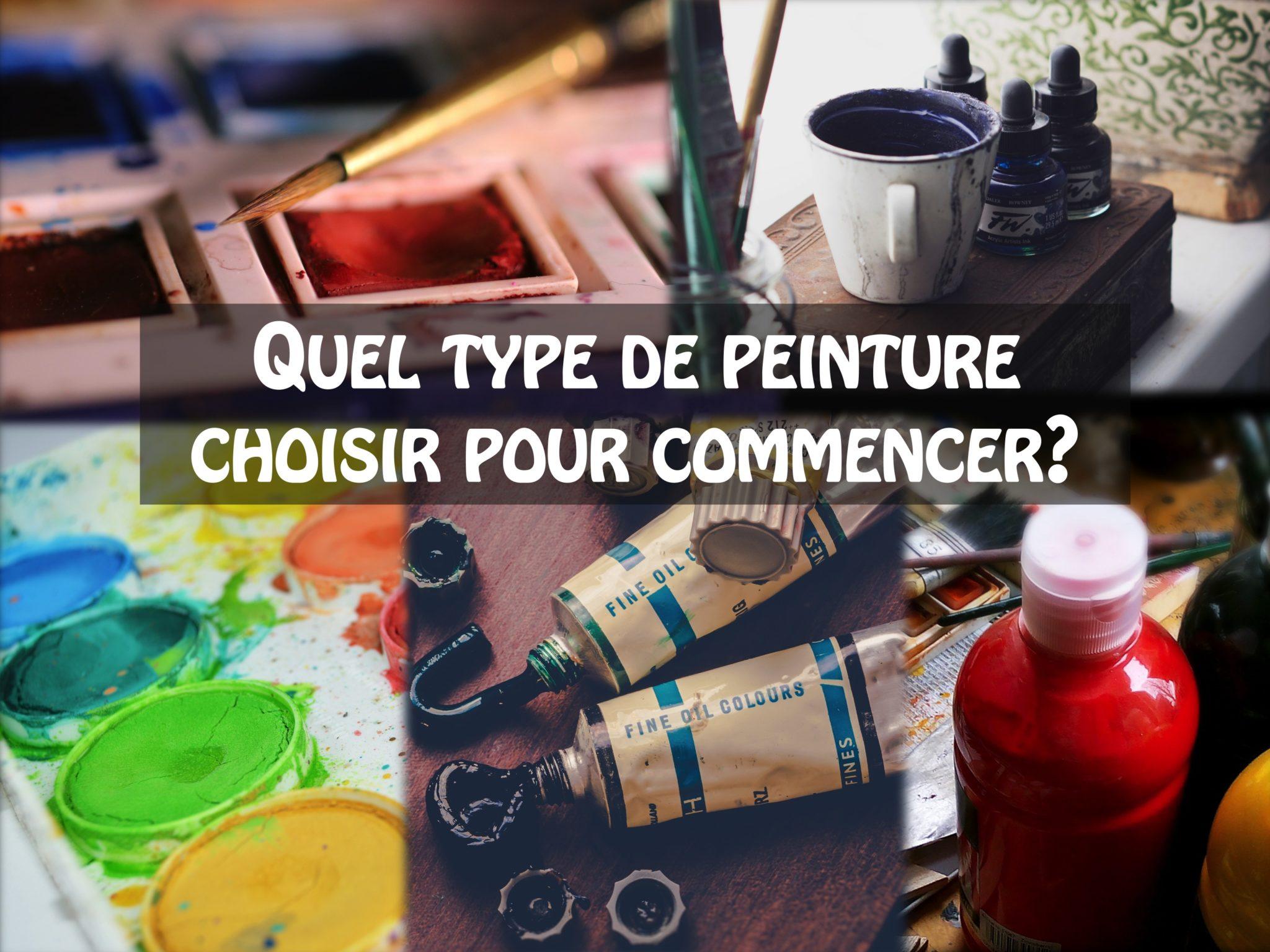 Quel Type De Peinture Choisir Pour Commencer Apprendre La Peinture
