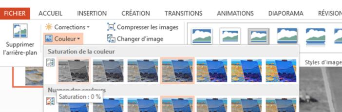 termes et notions de peinture : la saturation de la couleur