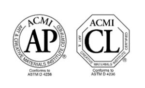 Labels ACMI, Label AP : Approved Product et label CL : Cautionary Labeling