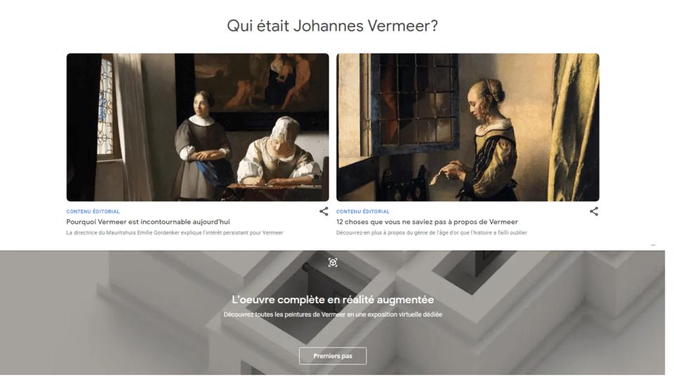 Présentation de l'artiste Johannes Vermeer